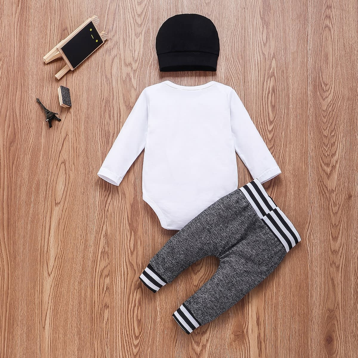 Baby Boy's Cotton Clothing Set with Hat