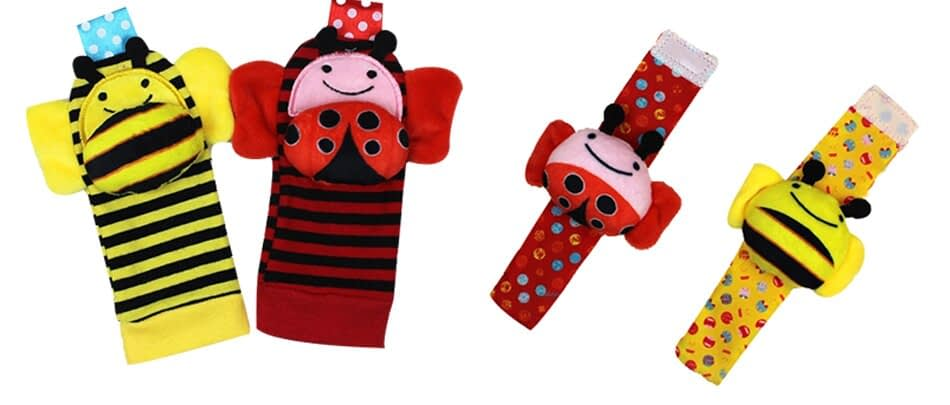 Baby's Animal Strap Toys with Rattle