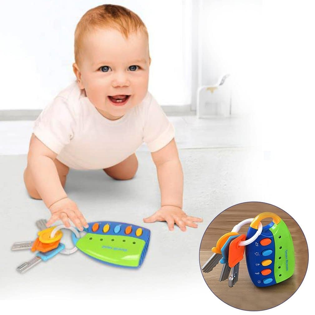 Musical Car Lock Key Shaped Toys for Baby