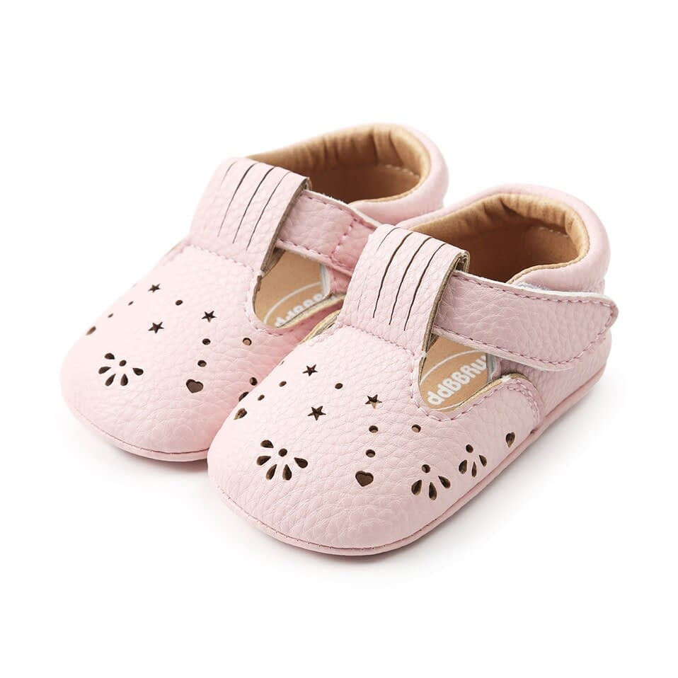 Baby Girl Shoes in White and Pink