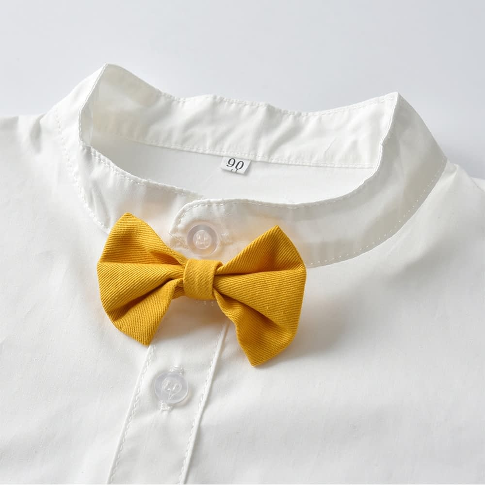 Baby Boy's Summer Clothing Set with Suspenders
