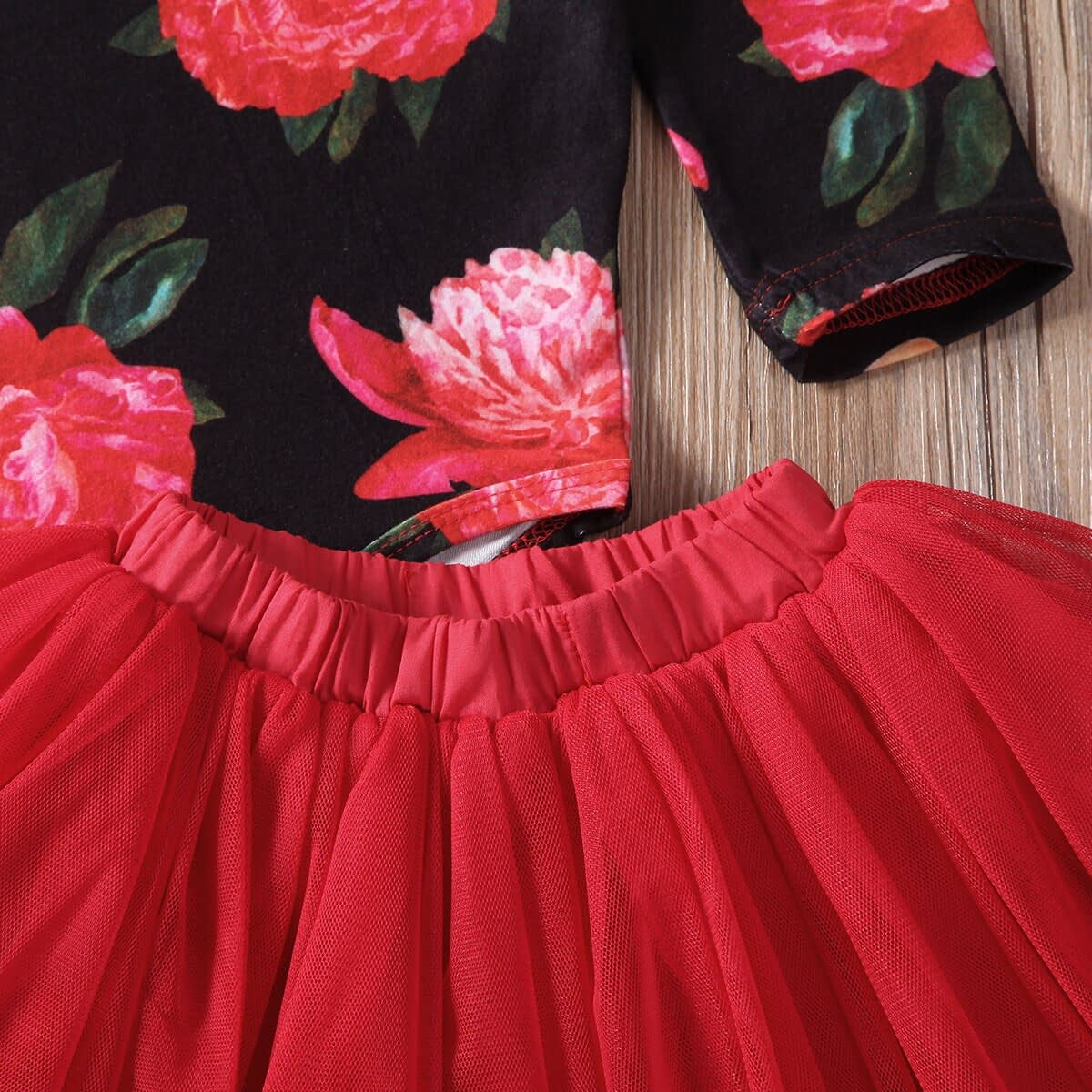 Baby Girl's Floral Printed Clothing Set