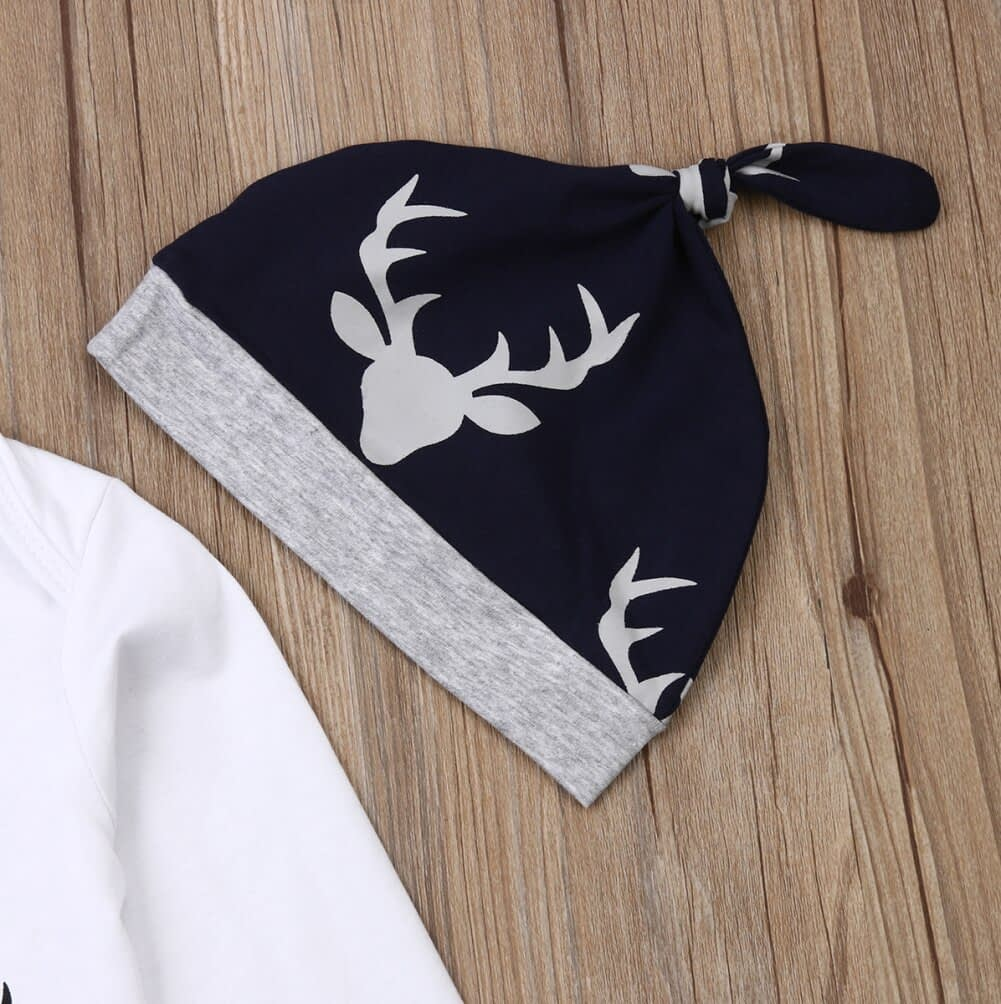 Baby Boy's Cotton Deer Patterned Clothing Set